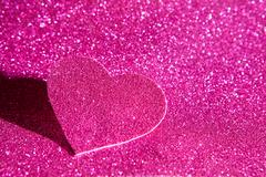 Pink glitter shiny abstract valentine's day background Stock Photos
