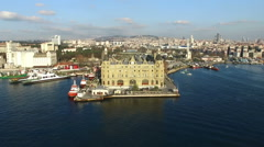 Haydarpasa Train Station, Istanbul  - stock footage