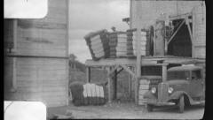 Loading Cotton Planters GIN Harvest 1940s Vintage Film Home Movie 8835 Stock Footage