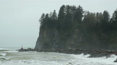 La Push, Olympic National Park, Storm - stock footage