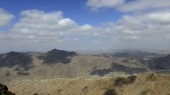 Barren landscape time lapse - Arkaweet desert, Sudan, Africa Stock Footage