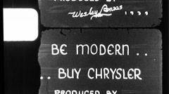 Chrysler Advertisement Used Car Graphic 1940s Vintage Film Home Movie 8836 - stock footage