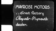 Chrysler Advertisement Used Car Graphic 1940s Vintage Film Home Movie 8837 - stock footage
