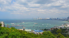 building and skyscrapers in day time at Pattaya, Thailand - stock footage