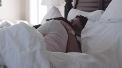 Young attractive couple sleeping Stock Footage