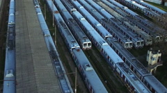 Haydarpasa Train Station aerial shot Stock Footage