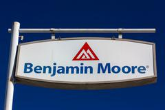 Benjamin Moore Paint Store Logo and Sign Stock Photos