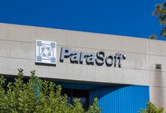 ParaSoft Headquarters Exterior and Logo Stock Photos
