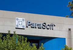 ParaSoft Headquarters Exterior and Logo - stock photo