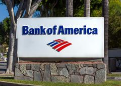 Bank of America Sign and Logo Kuvituskuvat