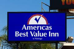 Americas Best Value Inn Sign - stock photo