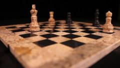 A chess player attacks the opponent´s king, it is a check Stock Footage