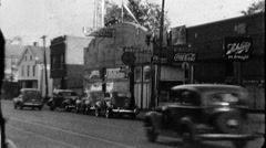 Chicago Street Scene Great Depression 1930s 1940s Vintage Film Home Movie 8839 Stock Footage