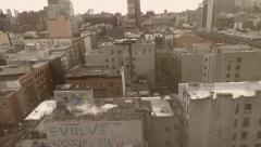 8mm Vintage Style View of Lower East Side in New York Stock Video Stock Footage