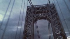 8mm Vintage Style Driving on Bridge in New York Stock Video Stock Footage