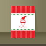 merry christmas vintage card design - stock illustration