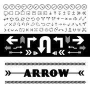 arrow icons set - stock illustration