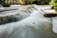 ater STream in Tat Kuang Si - stock photo