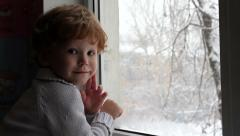 Little boy in Anticipation of the Holiday   - stock footage