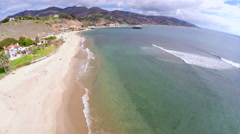 Malibu Pier Approach Stock Footage