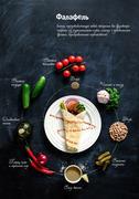 Falafel on a white plate. Stock Photos