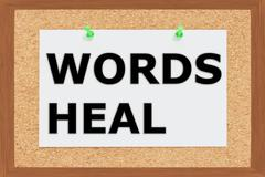 Words Heal concept - stock illustration