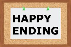 Happy Ending concept Stock Illustration