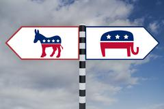 Democrat vs Republican concept Stock Illustration