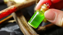 witchcraft potion voodoo magic potion elixir - stock footage