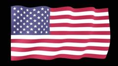 USA flag.   Waving PNG. - stock footage