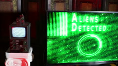 aliens detected alien screen technology 2 - stock footage