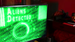 aliens detected alien screen technology 1 - stock footage