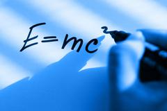 Equations of the theory of relativity - stock photo