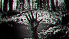 creepy hand HORROR movie creep weird spooky halloween - stock footage