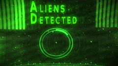 aliens detected - stock footage