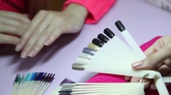 Manicure. Beauty saloon. Close-up - stock footage