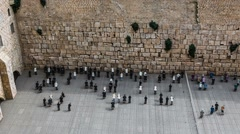 Museum of Israel, western wall Stock Footage