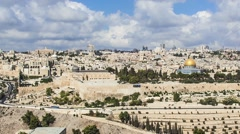 Old city of Jerusalem Stock Footage