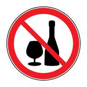 No alcohol drinks sign Stock Illustration