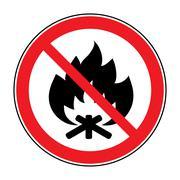 No fire bonfire sign Piirros