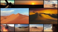 Sahara desert adventure montage Stock Footage