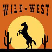 Wild West Typography Graphics design Stock Illustration