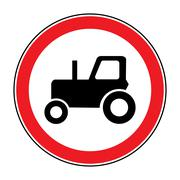 No tractor road sign Stock Illustration