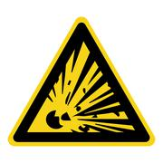 Explosive hazard sign Stock Illustration