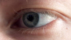 Stock Video Footage of 4K Close up View on Male Eye