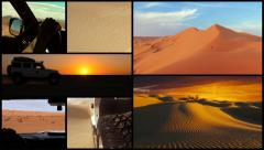 Driving off-road car in the sahara desert montage Stock Footage