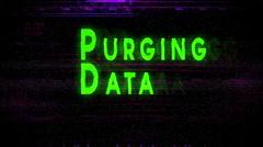 Purging data purge Stock Footage