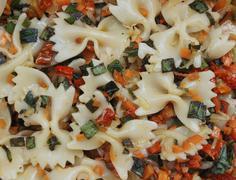 Farfalle Pasta Salad Stock Photos