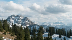 Stock Video Footage of Beautiful landscape of alpine mountains