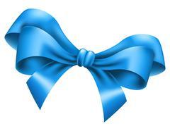 Big blue bow Stock Illustration